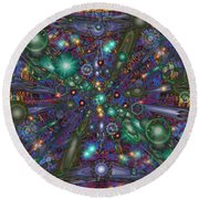 Astral Elixir Round Beach Towel