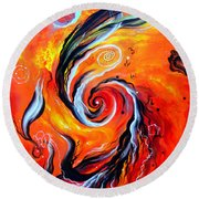 Astral Travels. Fire Way Out Of The Death Round Beach Towel