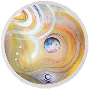 Astral Vision. Earth And Its Energy Round Beach Towel