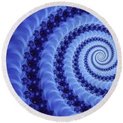 Astral Vortex Round Beach Towel
