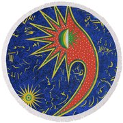 Astriasique Round Beach Towel