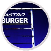 Astro Burger Round Beach Towel