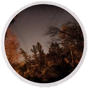 Astrophotography - Sequoia Rv Ranch - California Round Beach Towel