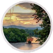 At A Bend In The River Round Beach Towel by Kendall McKernon