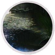 At Claude Monet's Water Garden 3 Round Beach Towel