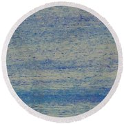 At Evening Anchor Round Beach Towel