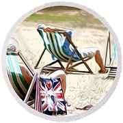 At St James Park Round Beach Towel