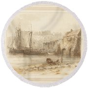 At Tenby Round Beach Towel