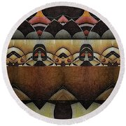 At The Anatomical Theatre Round Beach Towel