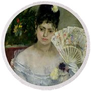 At The Ball Round Beach Towel by Berthe Morisot