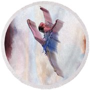 At The Ballet Round Beach Towel