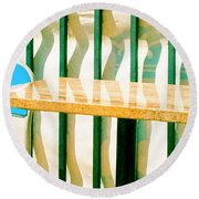 At The Beach Round Beach Towel