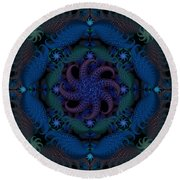 At The Bottom Of The Sea Round Beach Towel
