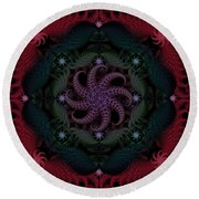 At The Bottom Of The Sea Are Rubies Round Beach Towel