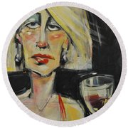 At The Gala - Reprise Round Beach Towel