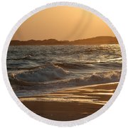 At The Golden Hour Round Beach Towel