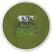 At The Hunt Round Beach Towel