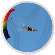 At The Mercy Of The Wind Round Beach Towel