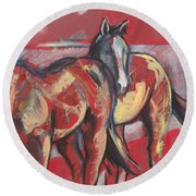 At The Races Round Beach Towel