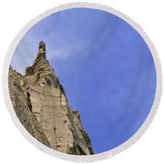 At The Scarborough Bluffs  Round Beach Towel