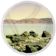 At The Sea Of Galilee Round Beach Towel