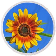 At The Source Round Beach Towel