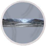 Athabasca Glacier, Jasper National Park Round Beach Towel