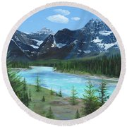 Athabasca River Round Beach Towel