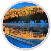 Athabasca River Glow Round Beach Towel