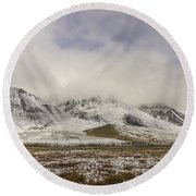 Atigun Pass Brooks Range Alaska Round Beach Towel