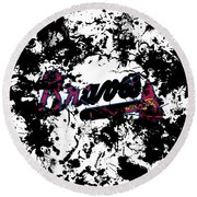 Atlanta Braves 1d Round Beach Towel