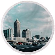 Atlanta Georgia Round Beach Towel
