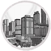 Atlanta Georgia Vector Round Beach Towel