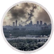 Atlanta Skyline Panoramic Round Beach Towel