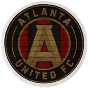 Atlanta United Barn Door Round Beach Towel