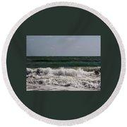 Atlantic - Beach - Waves Round Beach Towel
