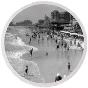 Atlantic City, 1920s Round Beach Towel