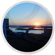 Atlantic City Series -14 Round Beach Towel