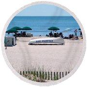 Atlantic City Series -15 Round Beach Towel