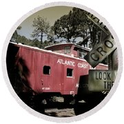 Atlantic Coast  Line Railroad Carriage Round Beach Towel