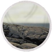 Atlantic Lighthouse Round Beach Towel
