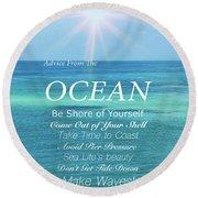 Atlantic Ocean Round Beach Towel