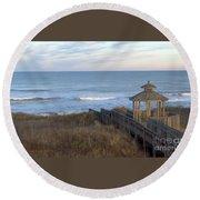 Atlantic Ocean Nc Round Beach Towel