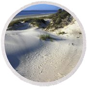 Atlantic Ocean Sand Dunes Round Beach Towel