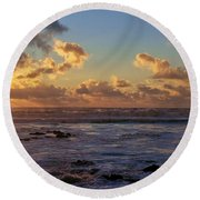 Atlantic Sunset Round Beach Towel