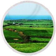 Atlantic View Doolin Ireland Round Beach Towel