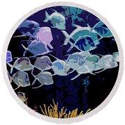 Atlantis Aquarium Round Beach Towel