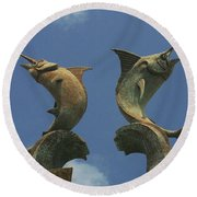 Atlantis Swordfish Round Beach Towel