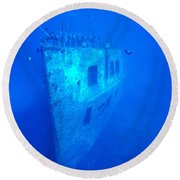 Atlantis Wreck Round Beach Towel