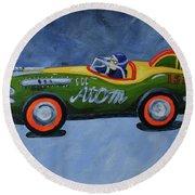 Atom Racer  Round Beach Towel